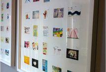 Kids Art displayed