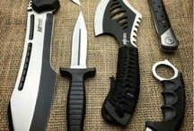 Black handled knives an fighting knives