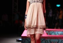 Tarun Tahilian at WIFW 2014. / Boho chic summer looks with traditional silhouettes given a modern twist.