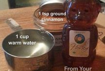 water honey and cinnamon