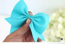 Hair bows / I thought it was time to express my love my for bow,plus im tired this is random as I want some blue bows for winter :)