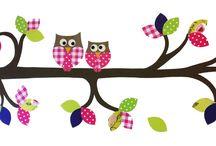 Uilentak kinderkamer / Mooie aankleding van de kinderkamer met een uilentak die naar wens is samengesteld.