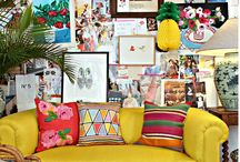 Colourful Interiors / Colourful homes, interiors and DIY's.  Decorating with color and boho interiors and design.