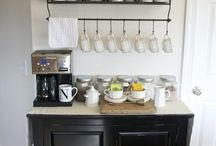 Home coffee bar / Ideas about creating my coffee bar in my study room