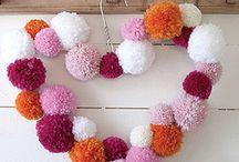 Deco con pompones / Varias ideas para decorar el hogar con pompones