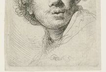 rembrandt paintings+etchings