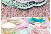 Colored paper doilies