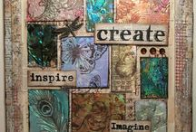 My Mixed Media/Altered Art / my dabblings with inky, messy, painty, textured all sorts