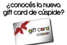 Gift Card / Ahora regalar es más simple con la nueva Gift Card de Cúspide, que te permite cargar el valor que vos quieras obsequiar. Disponible en todas las tiendas. ¡Obsequiala ya!