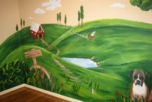 wall murals: texas hill country