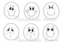 expressões faciais de bonecas