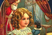 "Christmas Cards – Vintage Images / The first Christmas cards were commissioned by Sir Henry Cole and illustrated by John Callcott Horsley in London in 1843 ""Official"" Christmas cards began with Queen Victoria in the 1840s. Christmas cards have been collected, since Victorian times, Queen Mary amassed a large collection that is now in the British Museum."