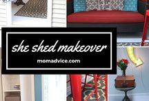 FOR THE HOME: SheShed Inspiration / Denver blogger {Beauty In The Mess} shares ideas and inspiration for your own sheShed.