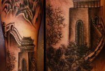 Landmarks tattoo / Tattoo sleeve