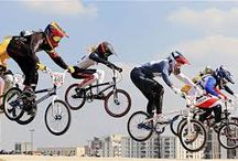 BMX Women and Girls / Women BMX riders and racers. Cycling.