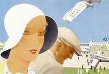 Travel vintage posters Germany & Swiz