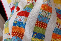 Coin Quilts / These beautiful quilts are great for using up fabric pieces.