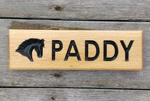 Wooden Personalised Oak Engraved Horse Name Stable Name Plate Signs