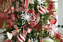 Decorated Xmas trees