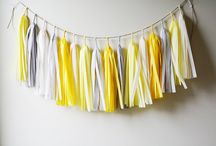 yellow and grey chevron theme inspiration
