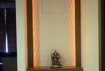 Puja Room Interior Designs / Konceptliving Puja Room Interior Design and Decoration Ideas