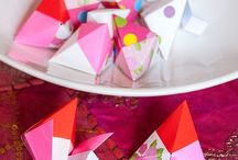 origami,  cookie parcels