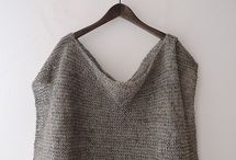 Linen knitted tops