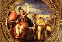 Porta Giuseppe detto Il Salviati (Castelnuovo di Garfagnana 1520-Venezia 1575) / arrivò a Venezia nel 1539 in compagnia del suo maestro e sodale Francesco de' Rossi  (o Francesco Salviati) di cui assumerà l'appellativo di Salviati.
