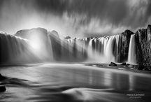 Godafoss Falls Rays