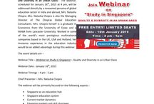 Webinar on Study in Singapore – Quality and Diversity in Urban Oasis