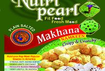 NutriPearl Makhana / India's 1st Herbal & FitNess Friendly Roasted Makhana Namkeen Nutripearl Good Antioxidant,Stressbuster & Energizer. Great source of Nutrients & Organic.