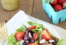 Fresa salads / Salads, fruits, summer food, fresh, party's salads, ensaladas frescas