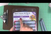 Spectrum Aqua Markers / by Texana Designs - Jimmye Sue Mitchell