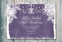 Invitation cards and decor