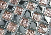 Mosaico tiles, glass