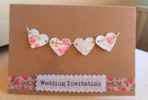 wedding cards, invites and favours.
