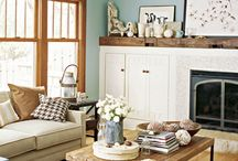 Wood and Color / Ideas on decorating with wood floors, trim, and wooden accessories