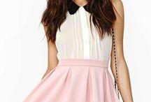 High waisted mini skirts & short shorts