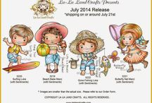 LLLC July 2014 Release! / NEW products and projects from La-La Land Crafts July 2014 Release :-)