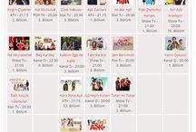 Haftalık Dizi Programı - Weekly Serial Schedule / Tüm dizilerin yayın gün ve saatlerini, gün bazında gösteren haftalık dizi tablosu