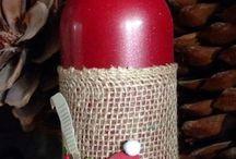 garrafas natalina