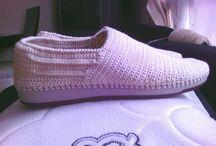 Zapatos caballero a crochet