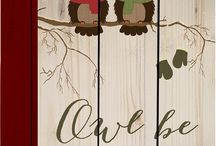 Christmas Owls / Christmas owl decorations and ornaments