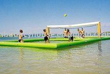 Water beach Volleyball court