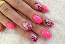 decoração em rosa / decorações de unhas para fazer