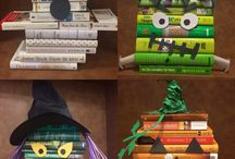 Library Display Ideas / Creative ideas for library displays.
