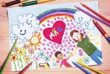 Ideias criativas Faber-Castell: Dia das Mães / Texto descritivo do board:Use sua criatividade para presentear sua mãe nesta data tão especial. Inspire-se aqui!