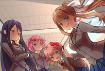 ♡Doki Doki Literature Club!♡ / (WARNING: THIS GAME CONTAINS DISTURBING CONTENT AND IS NOT SUITABLE FOR THOSE FACING ANXIETY, DEPRESSION OR ABUSE.) Welcome to the Literature Club! It's so lovely that you decided t o  j o i  n  u s.  F O R E V E R . = )