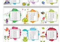 Tijd kalender kleuters