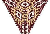 beaded triangle